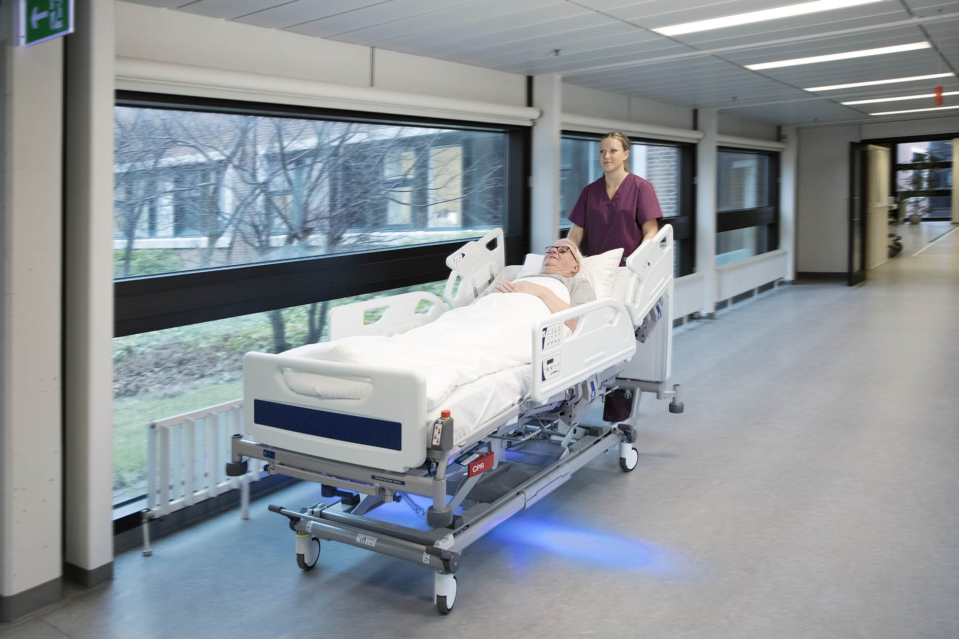 The ergonomic effects on caregivers when transporting patients in hospital beds