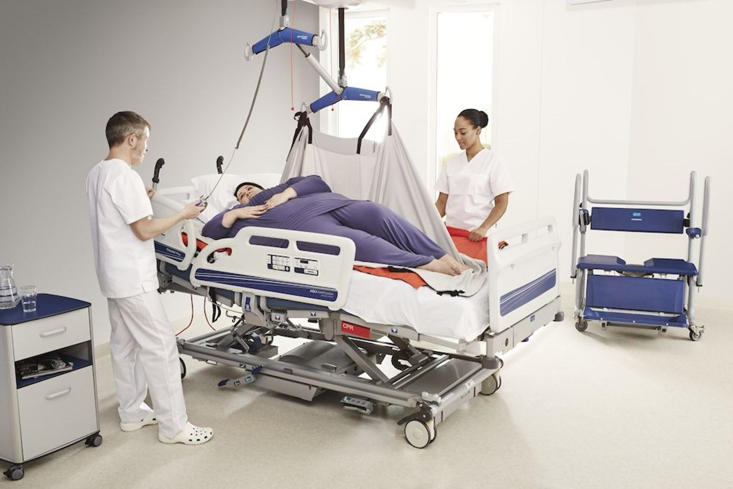 Protecting caregivers from injury while safely caring for plus size patients